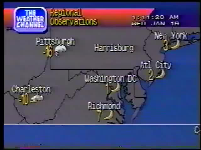 Weather Channel Local Forecasts January 19 1994 GIF | Find, Make