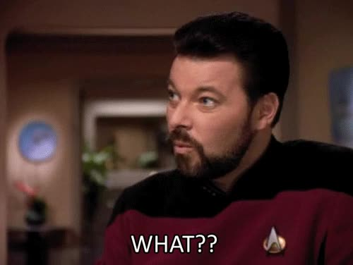 Watch this what GIF by Star Trek gifs (@star-trek-gifs) on Gfycat. Discover more Commander Riker, Jonathan Frakes, Reaction, Riker, Star Trek, Star Trek The Next Generation, TNG, The Next Generation GIFs on Gfycat