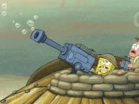 Watch and share Spongebob, Cartoon, Gun, Tv, Tv Show GIFs on Gfycat