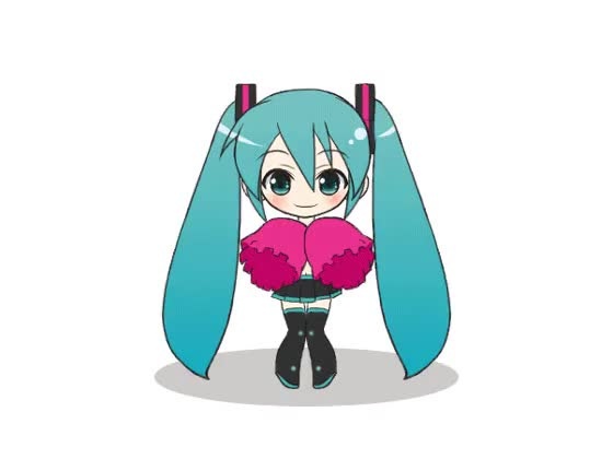 Watch and share Animated Dancing Hatsune Miku Pom Poms Vocaloid GIFs on Gfycat