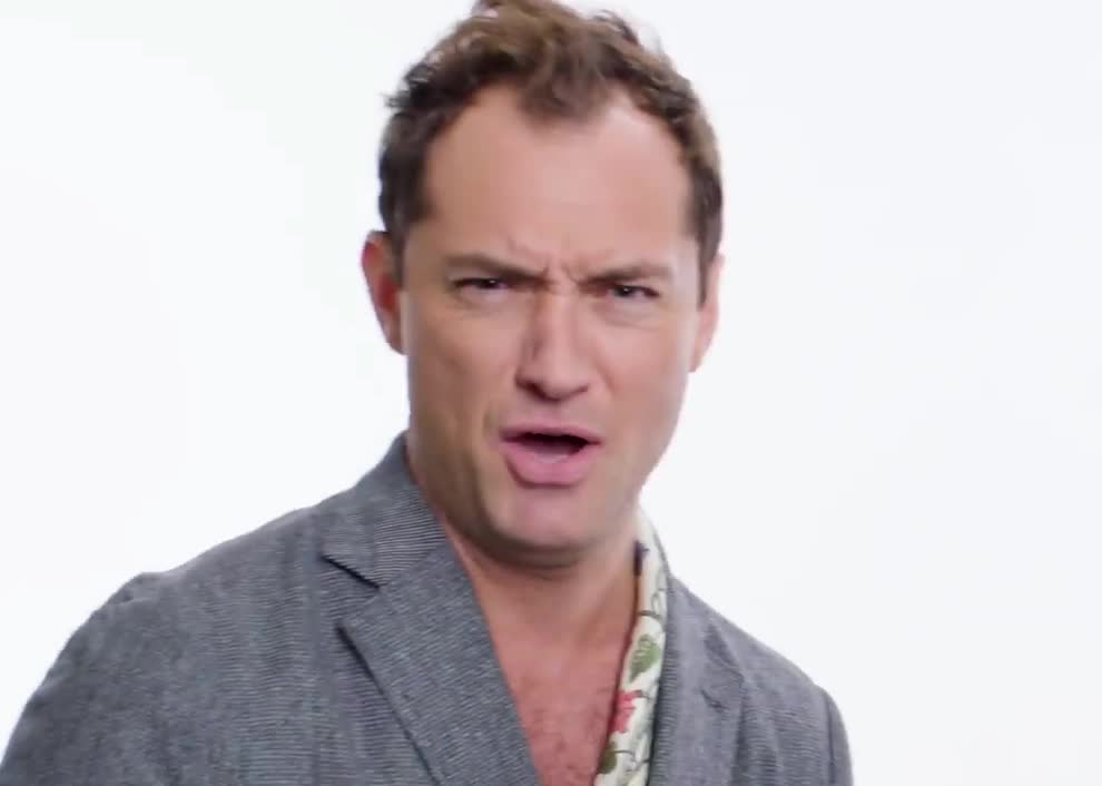 bitch, bitter, british, insolt, insolted, jude, jude law, law, most, never, no, not, please, questions, searched, snob, wired, Jude Law - No| WIRED GIFs