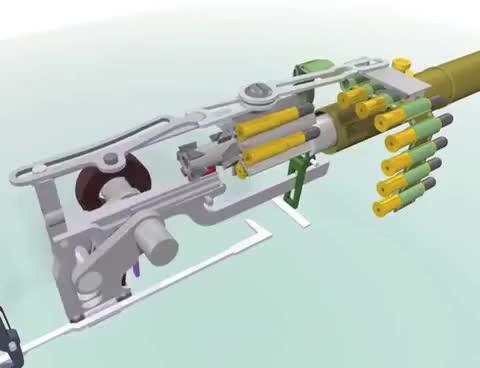 How a Maxim gun works