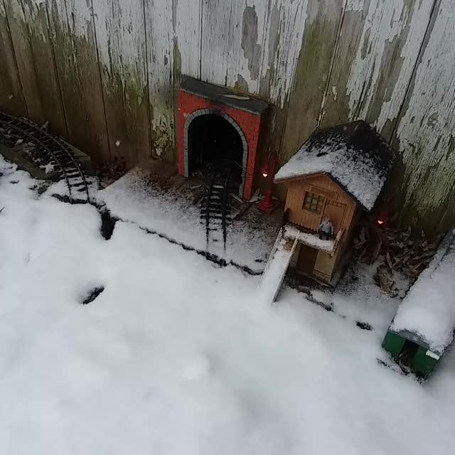 Watch Model Train Plowing Snow GIF by Alexander Barber (@alexbarbershop) on Gfycat. Discover more g-scale, garden, locomotive, mildlyinteresting, model, model trains, oddlysatisfying, railroad, reddit, snow, snow plow, train GIFs on Gfycat