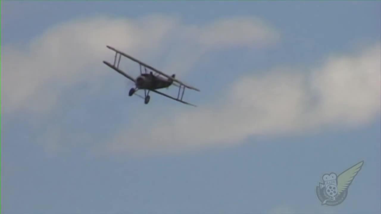 aviationgifs, Sopwith Camel sideslip landing. (reddit) GIFs