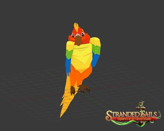 Watch Idle Parrot Stranded Sails GIF by rokapublish (@roka_can) on Gfycat. Discover more 3d, 3d modeling, Pet, birb, gaming, idle, indiedev, indiegame, nintendo switch, parrot, pc, pc masterrace, sails, steam, stranded, stranded sails, unity3d GIFs on Gfycat