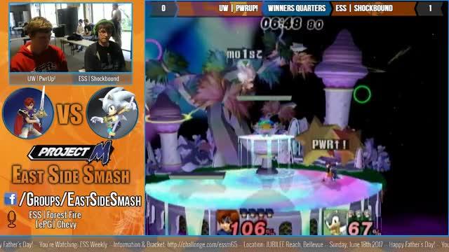 Watch ESS Weekly #65: UW | PwrUp! (Roy) vs ESS | Shockbound (Sonic) - Winners Quarters - Project M GIF by @shockbound on Gfycat. Discover more ssbpm GIFs on Gfycat