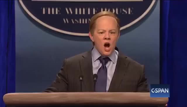 Watch Sean Spicer Press Conference (Melissa McCarthy) - SNL GIF on Gfycat. Discover more related GIFs on Gfycat