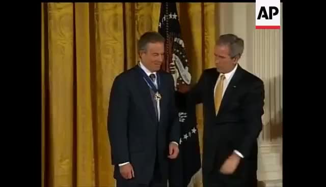 Watch and share Blair And Howard Receive America's Highest Civilian Honour GIFs on Gfycat