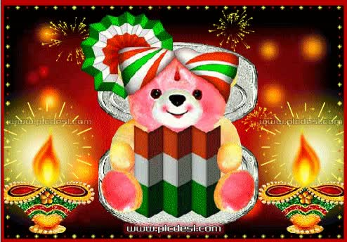 Watch and share Teddy With Happy Diwali Card Diwali GIFs on Gfycat
