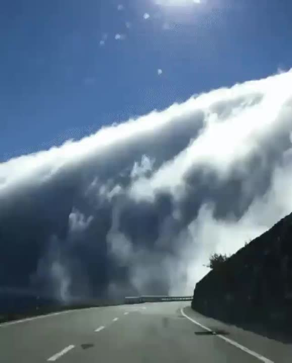 Falling Clouds (x-post from r/megalophobia) GIFs