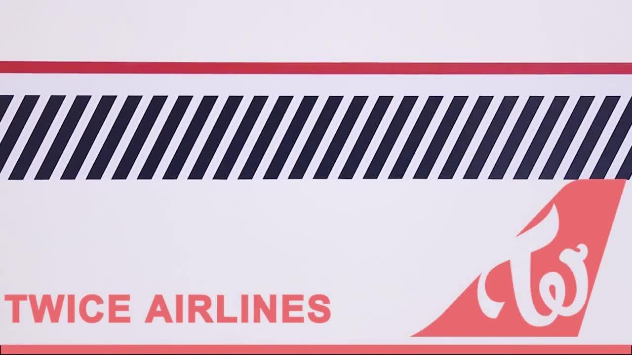 "TWICE, サナ, ジヒョ, ジョンヨン, ダヒョン, トゥワイス, トワイス, ナヨン, ミナ, モモ, TWICE JAPAN SEASON'S GREETINGS 2019 ""TWICE AIRLINES"" Teaser GIFs"