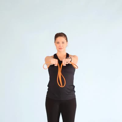 Watch and share 400x400-Resistance Band Arm Stretch Sequence GIFs by Healthline on Gfycat
