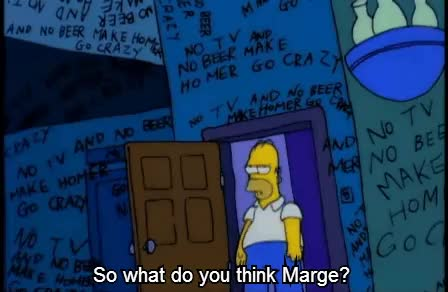 Watch and share No TV And No Beer Make Homer Something Something : TheSimpsons GIFs on Gfycat