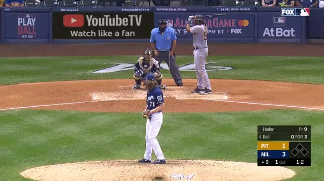 Watch and share Pittsburgh Pirates GIFs and Milwaukee Brewers GIFs by _ben_clemens on Gfycat