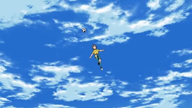 Watch and share Inazuma Eleven: Ares No Tenbin (Shinning Bird + Fire Tornado = Bakunetsu Storm) HD GIFs on Gfycat