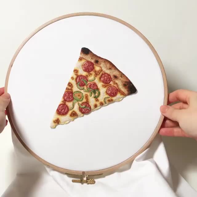 Watch and share This Crochet Pizza By Ipnot GIFs on Gfycat