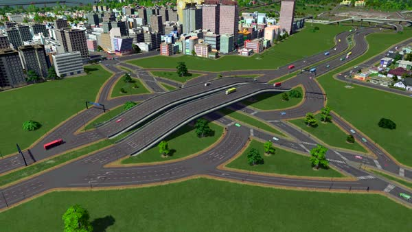 Watch and share Cities: Skylines - Diverging Diamond Interchange GIFs by boggartbear on Gfycat