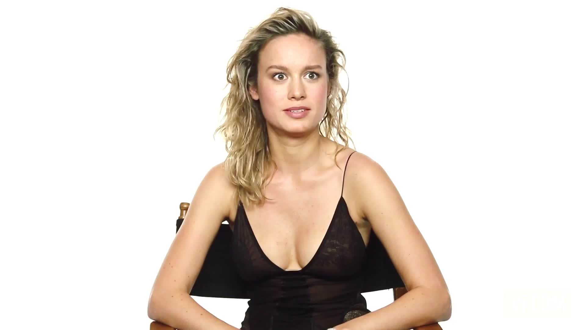Brie Larson sexy during candid interview