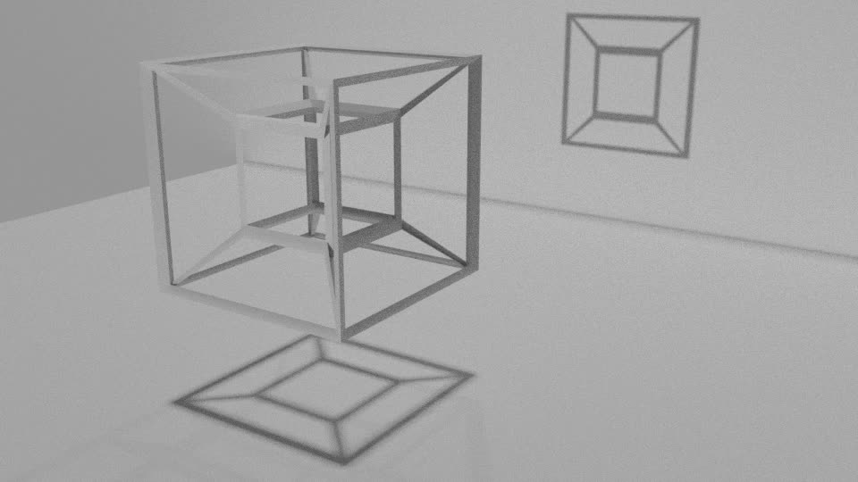 physicsgifs, A 4-D object's shadow is a 3-D object (reddit) GIFs