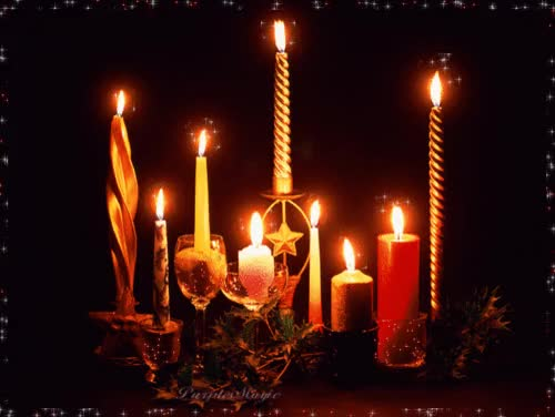 Watch and share Christmas Candles Wallpaper Download GIFs on Gfycat
