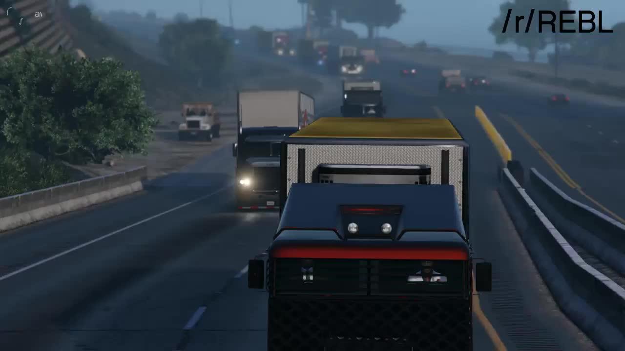 GTAV, ROCKSTAR_EDITOR, XB1, REBL Truckers GIFs