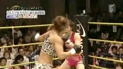 MMA, gifs, mma, Gif of the Day: Women don't have KO power? 105lb Hisae Watanabe says to GTFO. (reddit) GIFs