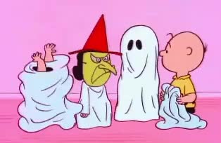 Watch this halloween GIF by GIF Queen (@ioanna) on Gfycat. Discover more brown, charlie, cute, funny, ghost, halloween, snoopy, treat, trick GIFs on Gfycat