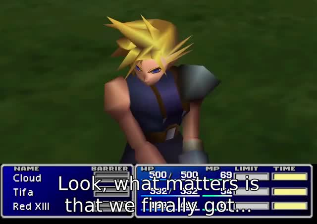 Watch dinner!!!! GIF by Lexa (@thrnio) on Gfycat. Discover more Abridged, FF7, FF7MA, FFVII, Final Fantasy 7, Final Fantasy VII, Machinabridged, final fantasy, team four star GIFs on Gfycat