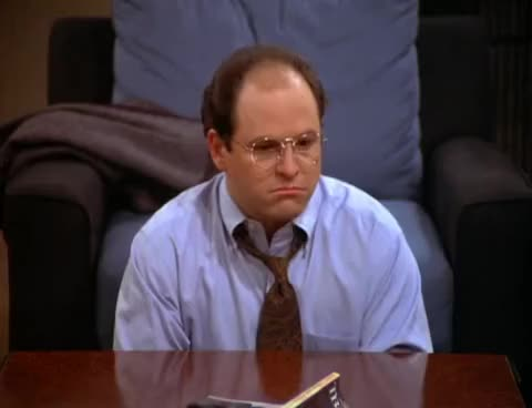 Watch and share Seinfeld - George Costanza Ponders About Potential Jobs GIFs on Gfycat