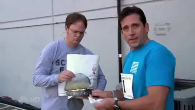 Watch and share The Office- Season 4- Michael/Dwight- Carbo Load GIFs on Gfycat