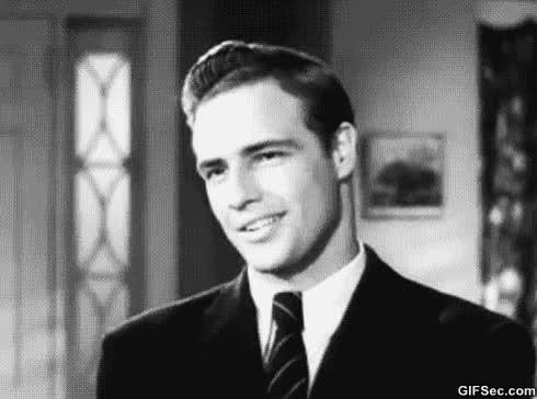 Watch and share Marlon Brando GIFs and Flirt GIFs on Gfycat