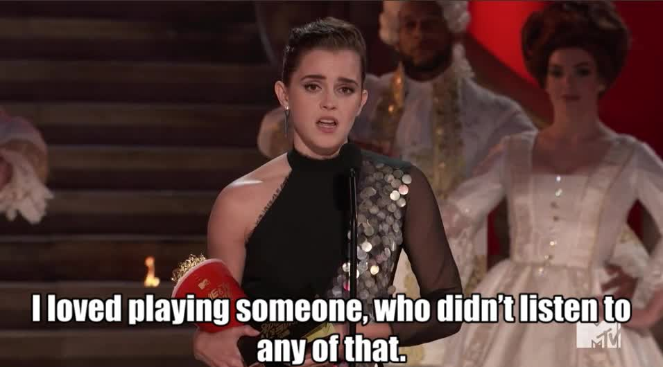 MTV Awards, MTV Awards 2017, MTVAwards, MTVAwards2017, emma watson, Emma loved playing Belle MTV Awards 2017 GIFs