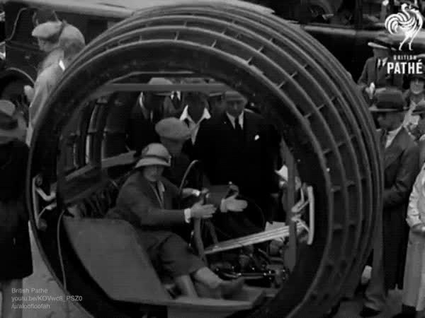 Watch and share The Dynasphere, A 1930 Monowheel Vehicle Inspired By da Vinci sketch GIFs on Gfycat