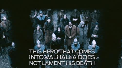 3 months ago    Tagged:#vikings#history#tv#death#scene#speech#ragnar#odin#valhalla#norse#thor#battle#raid#king#Travis Fimmel GIFs