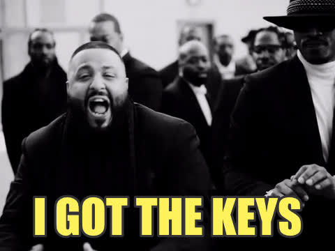 Dj Khaled, key, keys, major key, I got the keys - DJ Khaled GIFs