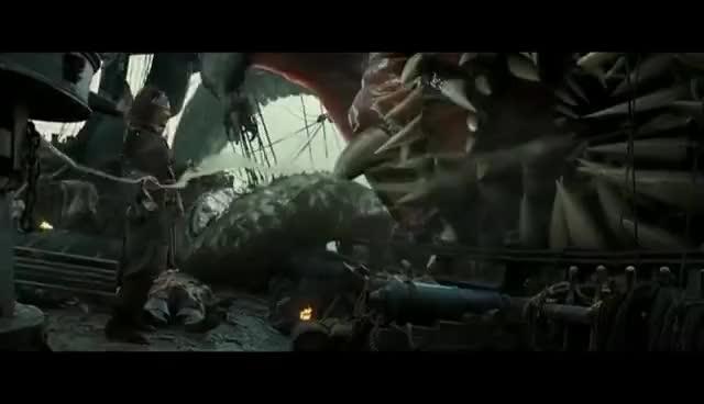 Watch and share Pirates Des Caraibes 2 - Sparrow VS Kraken (Scène Culte) GIFs on Gfycat
