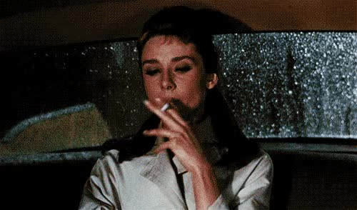 Watch and share Audrey Hepburn Breakfast At Tiffanyx Retro Smoking Favim Com GIFs on Gfycat