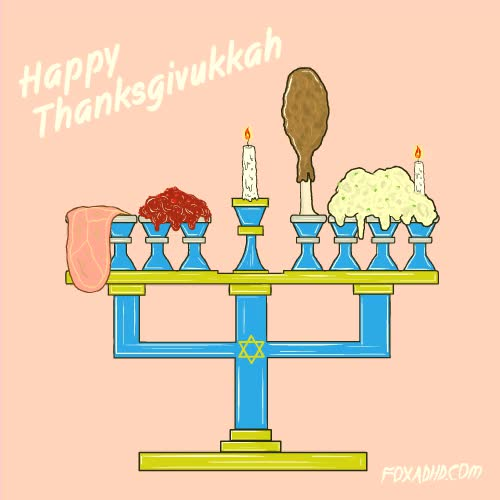 Watch and share Happy Thanksgivukkah GIFs on Gfycat