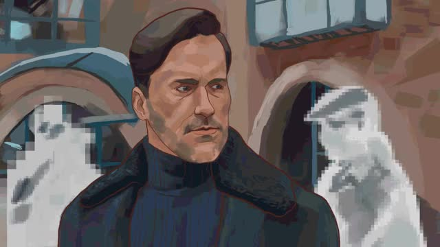Watch and share An Animated Drawing I Made Of Jon Hamm From The White Christmas Episode. : Blackmirror GIFs on Gfycat