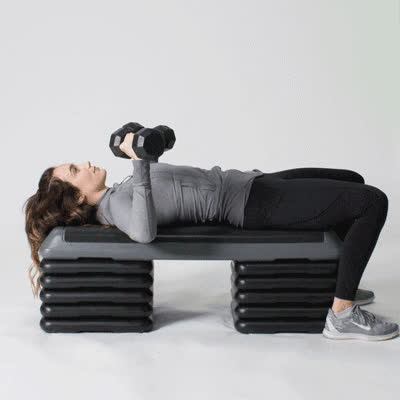 exercise, healthline, work out, 400x400-Dumbbell Bench Press GIFs