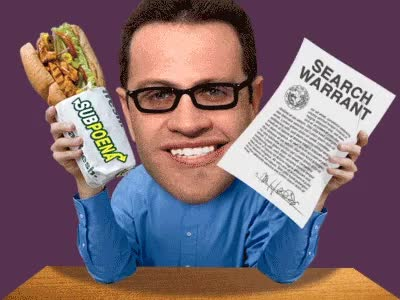 Watch fogel GIF on Gfycat. Discover more eat fresh, franchise, investigation, jared fogle, pending, restaurant, sandwich, sandwiches, search, spokesman, spokesmodel, subway, trial, warrant GIFs on Gfycat