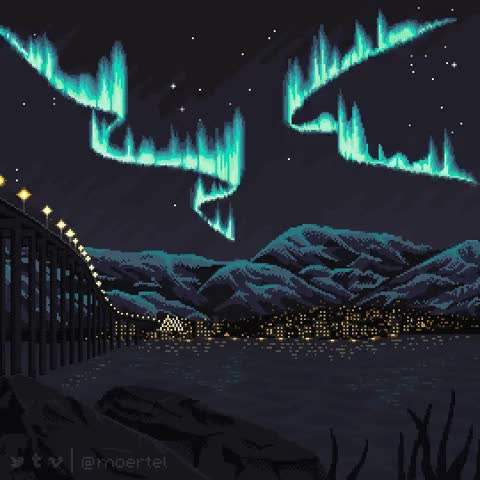 Watch Northern Lights over Tromsø GIF on Gfycat. Discover more related GIFs on Gfycat
