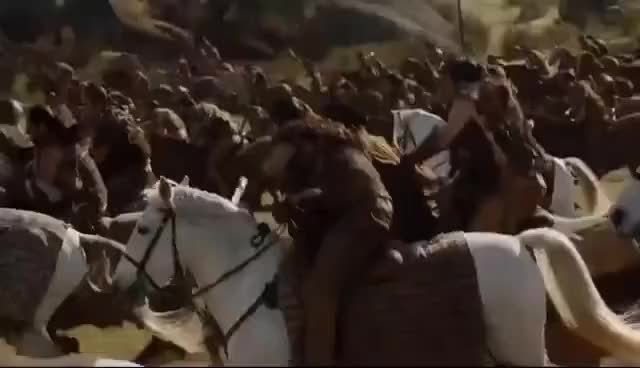 Watch FIELD OF FIRE part 1 - Dothraki and Drogon ambush the Lannisters - Game of Thrones Season 7 GIF on Gfycat. Discover more related GIFs on Gfycat