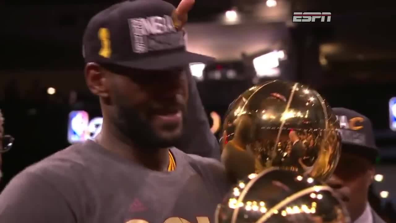 2016 NBA Finals MVP, 2016 nba finals mvp, Basketball, Cleveland Cavaliers, ESPN, Golden State Warriors, King Jae, Lebron James, NBA, NBA Champions, People & Blogs, amazing, basketball, best, cleveland cavaliers, done, espn, goat, golden state warriors, king, king jae, lebron james, mvp, nba, nba champions, people & blogs, strong, win, winner, yes, Lebron James receives 2016 NBA Finals MVP. GIFs