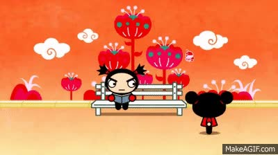 Watch and share Primer Beso. Pucca Y Garu GIFs on Gfycat