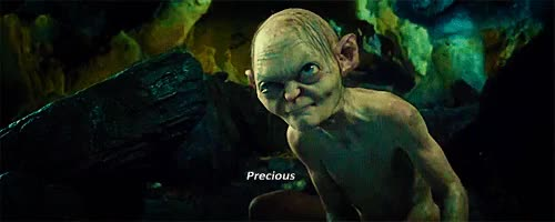 Watch and share My Precious Gollum Lord Or The Rings Yes Mine All Mine Go Away GIFs on Gfycat