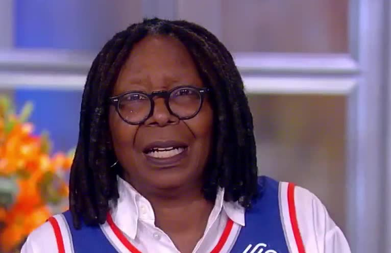angry, annoyed, awkward, disappointed, enough, mad, nevermind, speechless, that's, trump, view, whoopi goldberg, Whoopi gets mad with Trump GIFs