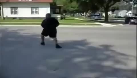 Watch and share Fat Guy Gets Hit By A Car GIFs on Gfycat