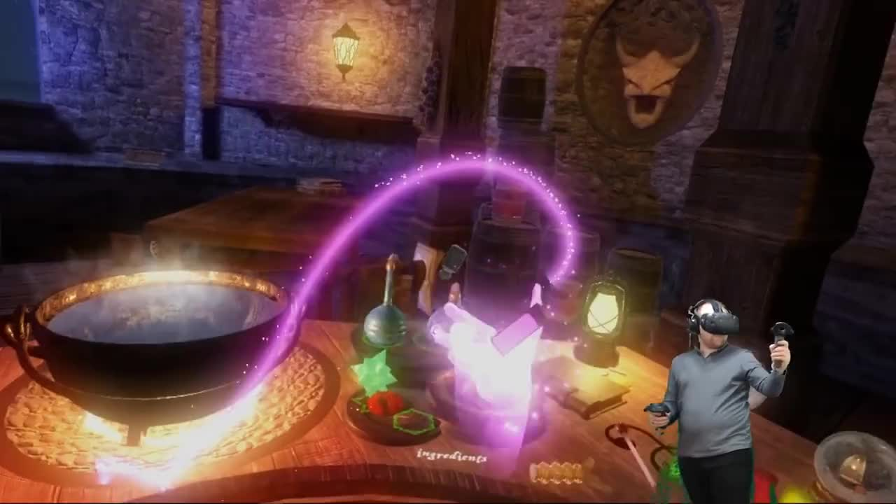 Game, GamePlay, VR, VideoGames, Wiggler, gaming, gamingwiggler, hands-on, magic, steamvr, trailer, undertale, vive, Potion's and Bauble's! | Waltz of the Wizard (HTC-VIVE-VR) GIFs