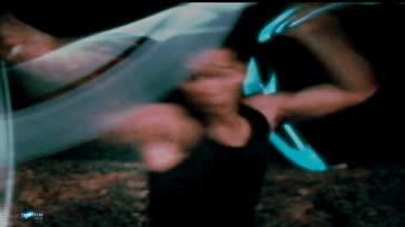 45 Double Nunchucks Laser blue artic en mode Bruceli Visionary - Tony Nguyen SF GIFs